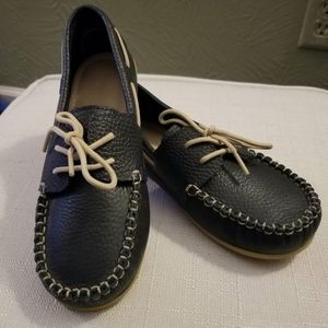 Elephantito navy blue boys loafers size 1 - gift!